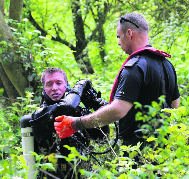 Police searching land near Ramsbury