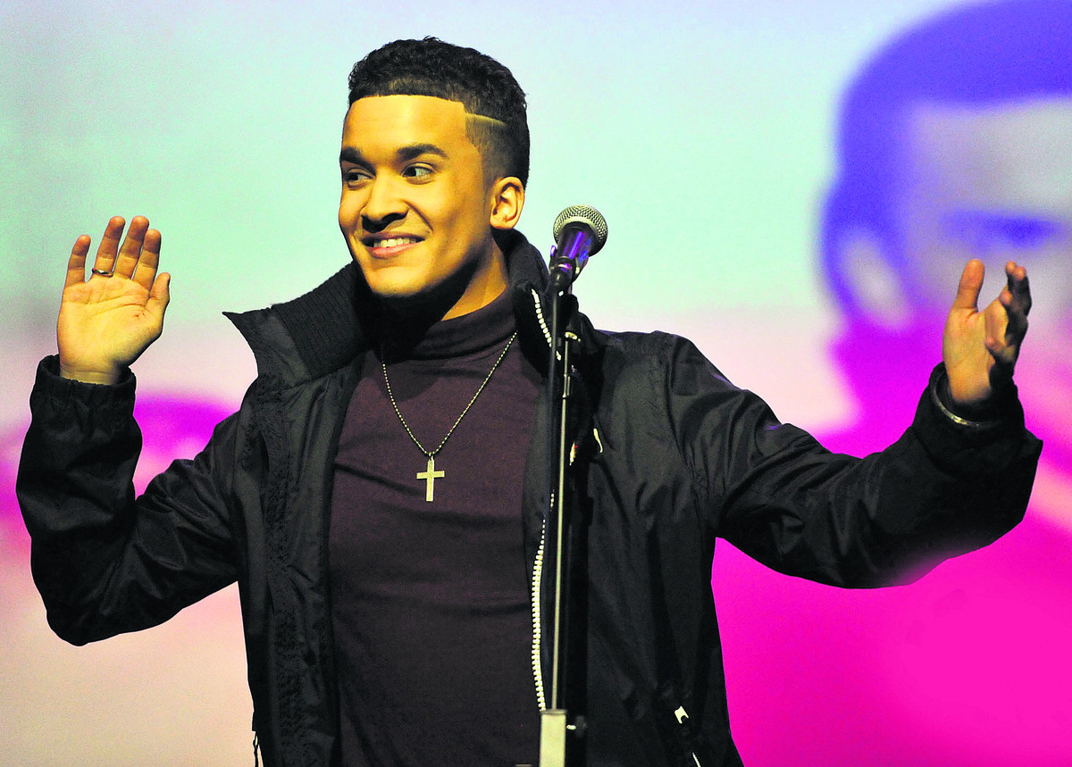 Jahmene Douglas, who is to headline next week's annual London Rocks event in Leicester Square