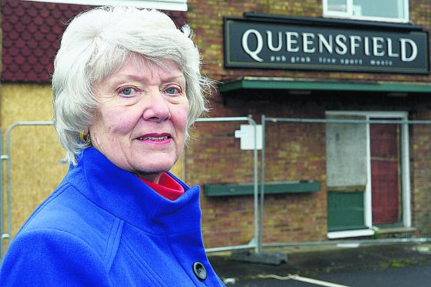 Swindon Advertiser: Another application has been made to demolish the Queensfield pub and replace it with houses  and Brenda Archer wants to hear what residents would like to see at the site