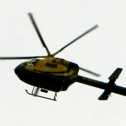 The police helicopter was scrambled to track a teenage boy