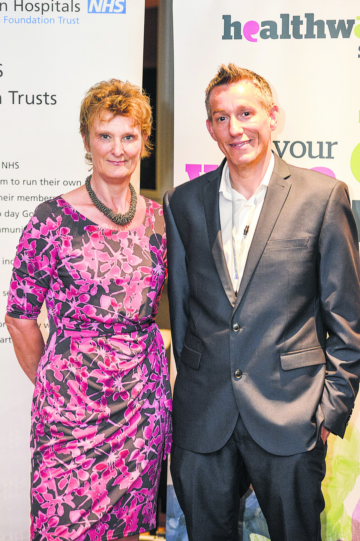 Spotlight event on the Great Western Hospital at the De vere Hotel. Pictured are Hilary Walker, chief nurse GWH NHS foundation trust, and Peter Rowe, manager Healthwatch Swindon