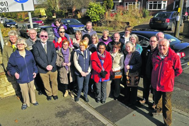 A group of residents in Wroughton campaigning against plans for 100 new homes