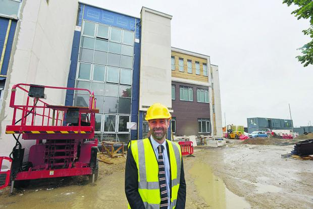Head of sixth form James Matcham at the new building at Commonweal School. Picture: THOMAS KELSEY