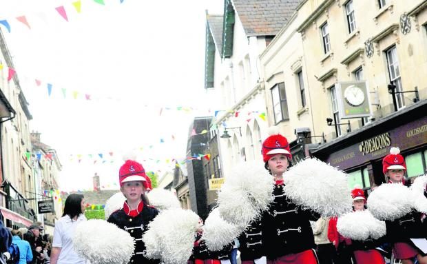 The Britannia Majorettes take part in last year's Old Town Festival parade
