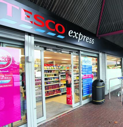 The Tesco Express, in Freshbrook Village Centre, where the theft took place