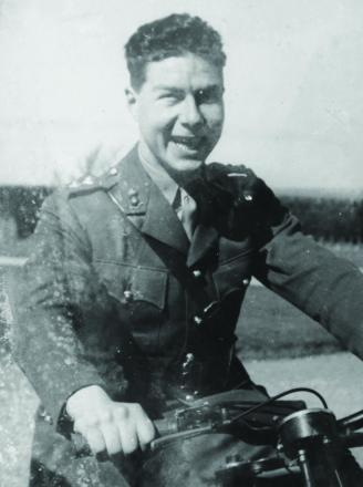 Peter Mitchell in his military days