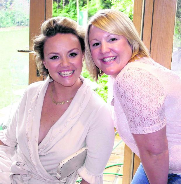 Swindon Advertiser: Stacey Johnson created a style fit for a star when she worked on the hair of Charlie Brooks of EastEnders