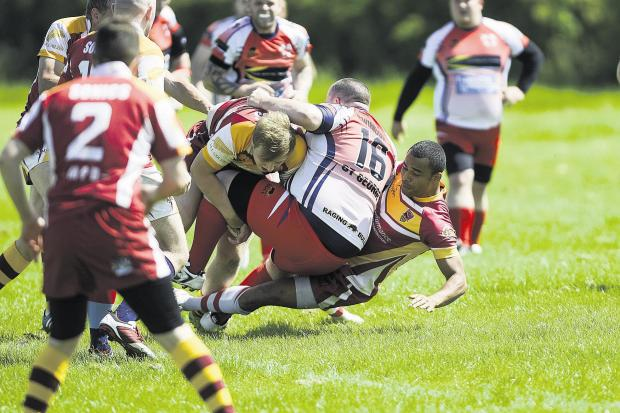Action from Swindon St George's 50-20 defeat to Bristol Sonics on Saturday
