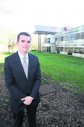 Aldi property director Ben Shotter outside the Westlea campus, where there are plans to build a new store