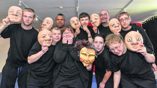 Partners Theatre Company, back, from left, Tom Roberts, Dan Eldridge, Robert Buckley, Joe Dickson, Luke Gray. Front, from left, Johnny Kilminster, Becky Philips, Becky Osbourne and Charlotte Arnel