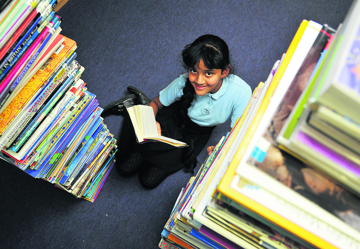 Shefali Fernandes, from Holy Rood  Junior School, who has won a national book competition