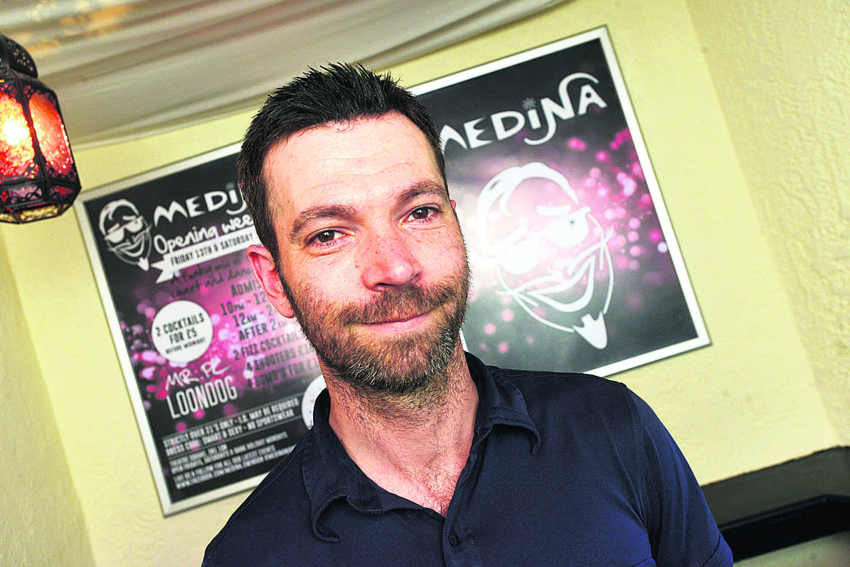 Manager Sam Fox has high hopes for new nightclub Medina, which is opening tomorrow