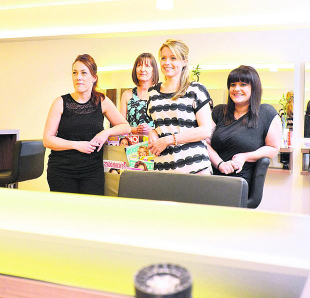 Members of the Salon 52 team – Sarah Keep, Helen Kirby, Kelly Goodheart and Abby Randall