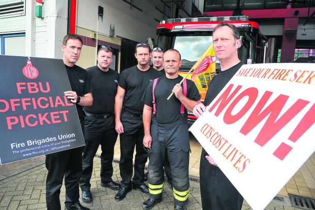 Public backed our strike, say fire crew