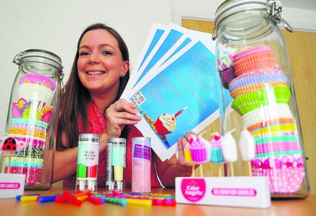 Swindon Advertiser: Laura Hogg, who has  has set up a local branch of the free Cakes For Kids charity which makes birthday cakes fo