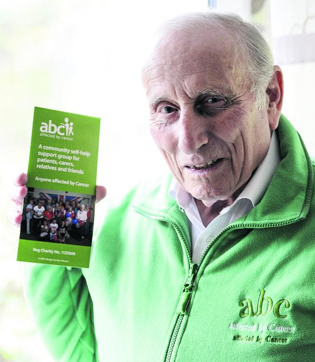 Swindon Advertiser: MBE recipient Alan Nix, who is a  trustee for support Group ABC. He is pictured during an appeal for people to donate money to the radiotherapy unit earlier this year