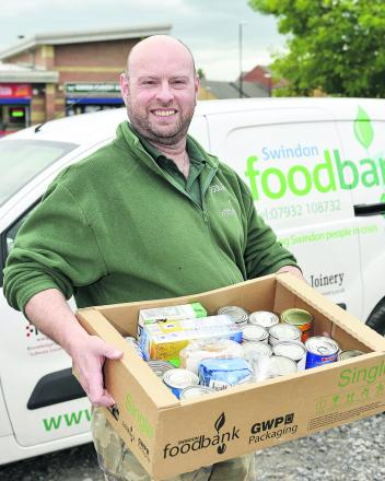Andrew Hill, new project manager of Swindon Foodbank