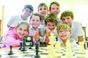 Chess club members, back row, Euan, Daniel and Oliver, middle row, Ross, Josh and Sam, front row, Eleanor and Ross