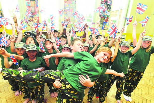 The Lyneham Primary School pupils who were runners-up in the Great Big Dance Off. Picture: THOMAS KELSEY