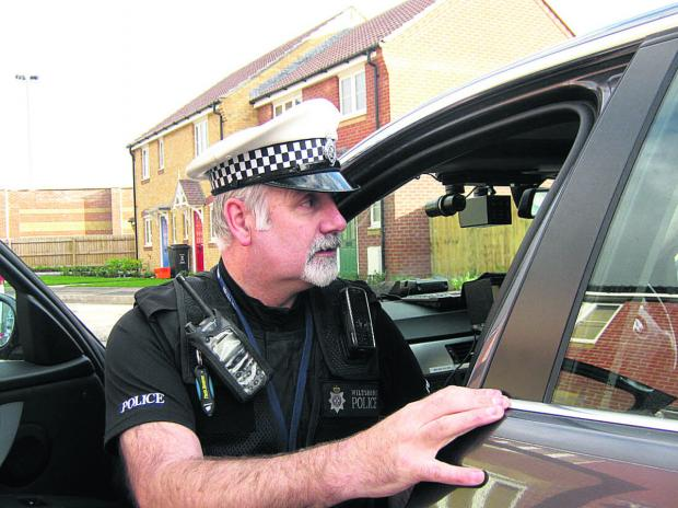 A driver is stopped by Wiltshire Police for a motoring offence