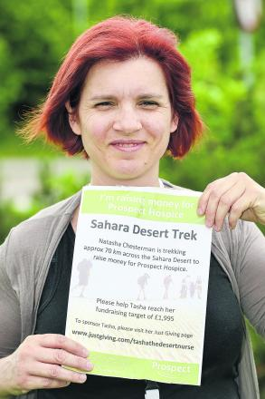 Natasha Chesterman is facing the baking hot sands of the desert for a five day trek in the Sahara to help raise money for Prospect