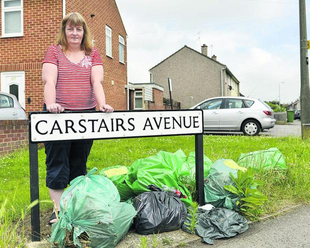 Coun Fay Howard, who is opposed the council's decison not to clear fly-tipped green waste immediately