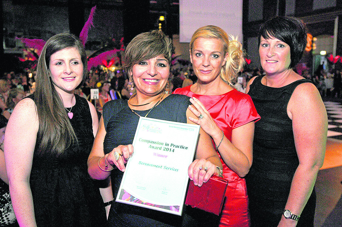 The Bereavement Services team, who won the Compassion In Practice award at Great Western Hospital Staff Excellence Awards