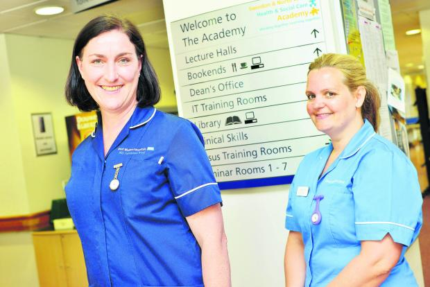 Course leader Claire Barker and nurse Chantel Otley. Picture: THOMAS KELSEY