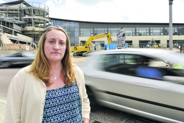 Clare Agates is among those concerned by traffic issues at the Regent Circus development