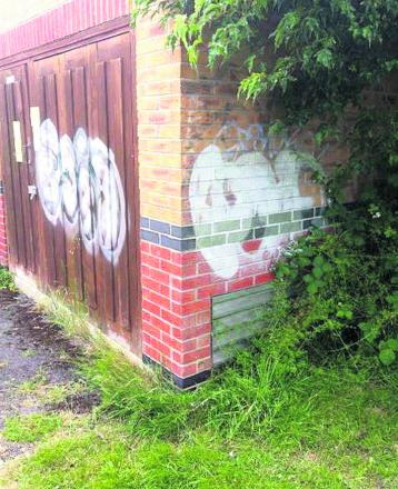 A new graffiti tag in North Swindon, which is  being investigated by police