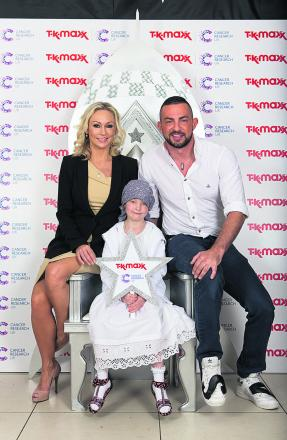 Madison Shurmer with Strictly Come Dancing's Kristina Rihanoff and Robin Windsor