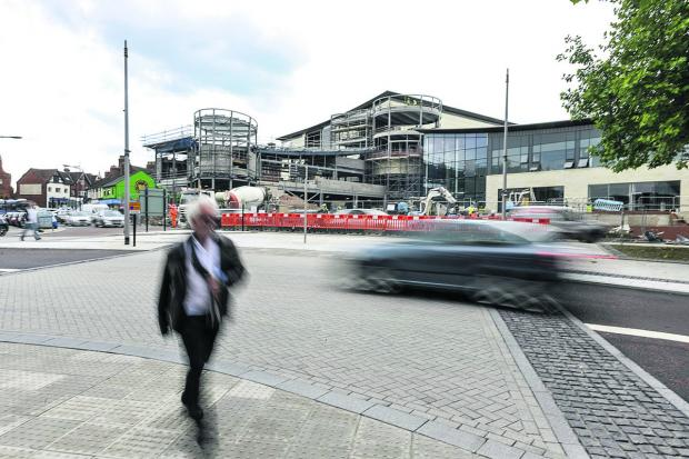 Concerns have been raised over pedestrian crossings at the new Regent Circus complex. Picture: THOMAS KELSEY