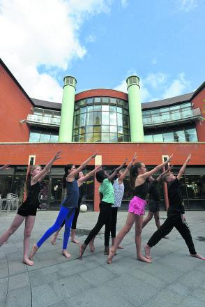Swindon Dance perform outside the central library