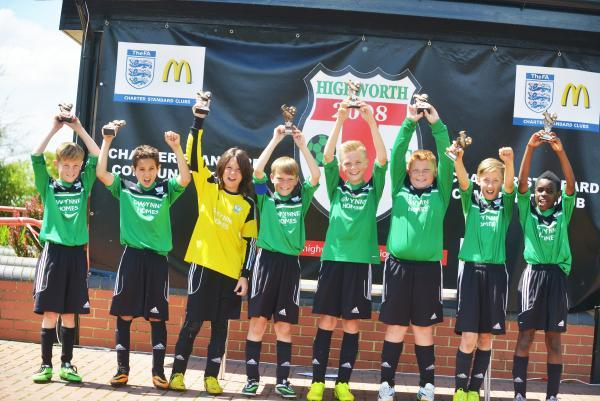 Greenmeadow Under 11s celebrate