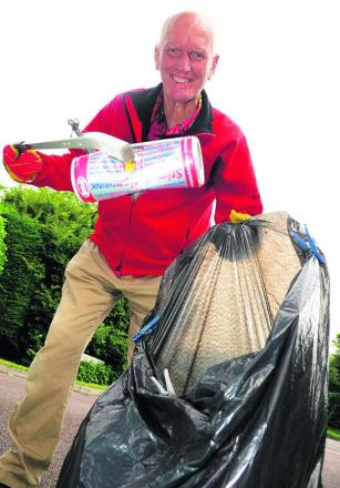 Brian Cavill is  a one-man neighbourhood litter-picking operation
