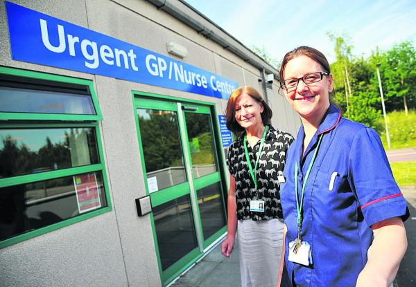From left, Jo Boyd, the matron of the Urgent Care Centre  and Ruth Gumm Seqol's operational manager