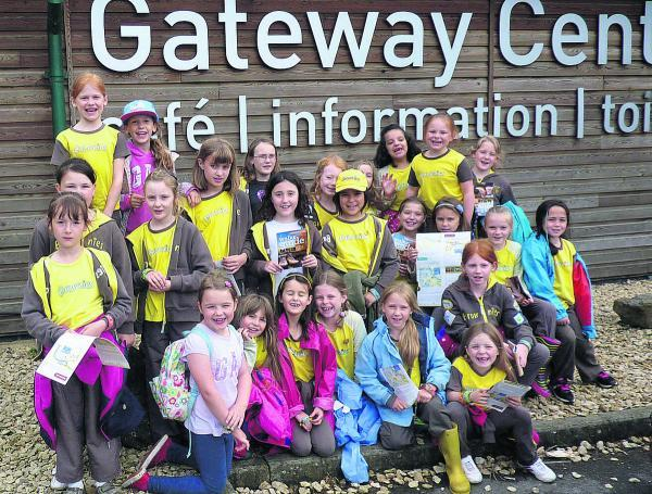 Thirty members of the 3rd Wootton Bassett Brownies visited Cotswold Water Park as part of their Out And About badge