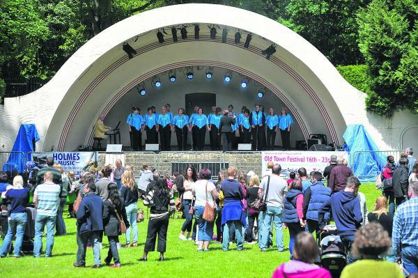 Kentwood Choir performs at a previous Old Town Festival