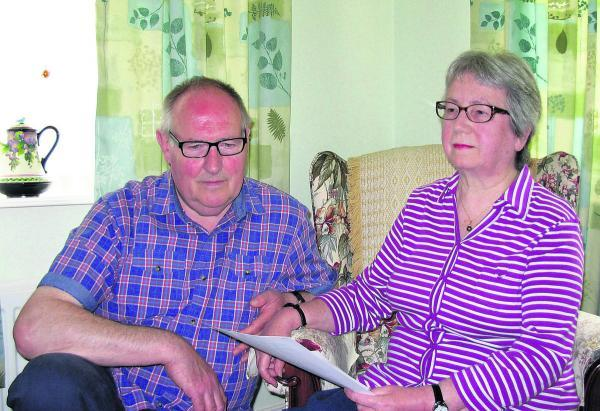 Pamela Boxford-White and her husband Duncan, who have received £9,000 in compensation from Wiltshire Police after Pamela was wrongfully arrested and held in a police cell for seven hours despite her disabilities