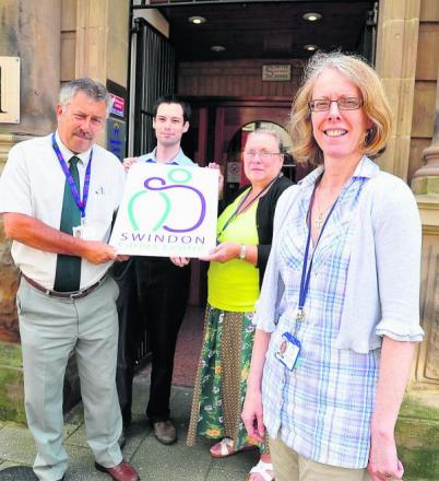 Swindon Carers chief executive Cath Johnston, right, with, left to right, John Beale, Russ Francis and Sandra Chapman