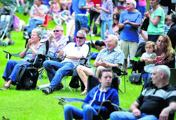 Crowds enjoy the music at the Old Town Bowl on Saturday