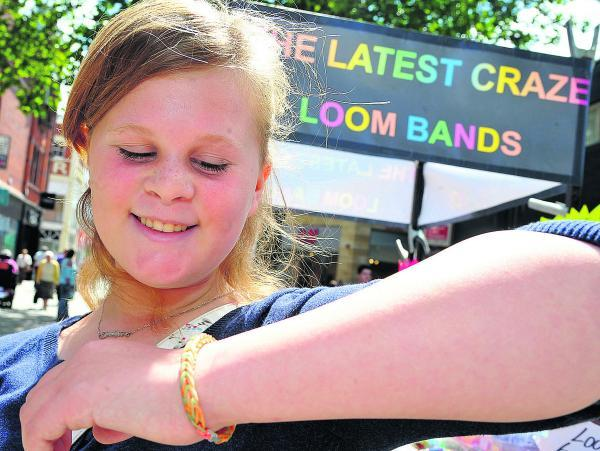 Nova Hreod pupil Caitlin Humphries is a big fan of loom bands and is pleased her school has not banned them  Picture: DAVE COX