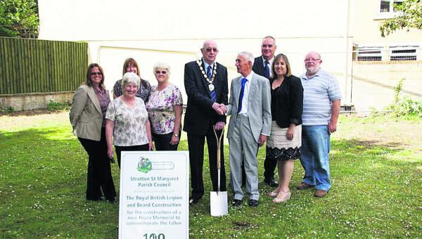 Parish council chairman John Foley with fellow councillors and parishioners at the ground-breaking ceremony