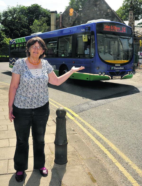 Martha Parry, of Civic Voice, whose members feel that Bristol Street is not suitable for buses as the road is not wide enough and there is a sharp turning with a main entrance round the corner