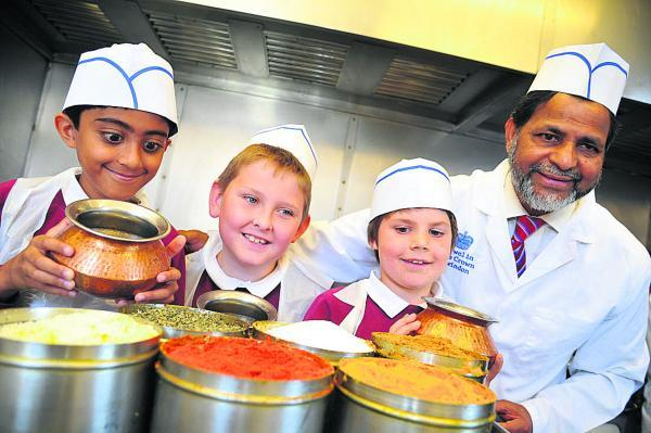 Currying favour with an array of spices are, left to right, Samee, Jay, Lucas and Muzammil Ali