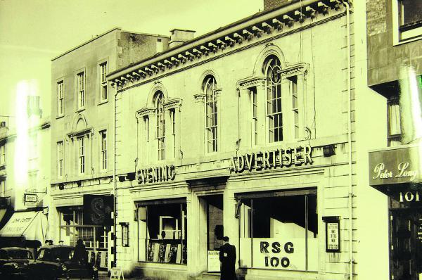 The Swindon Advertiser building in Victoria Road back in its heyday