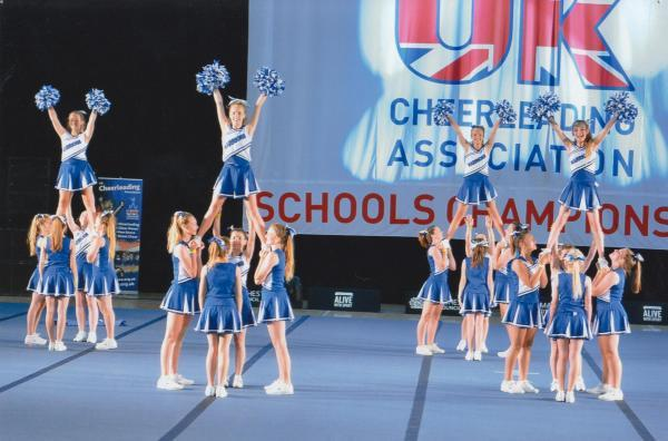 Highworth Warneford's cheerleaders came second in the national championships