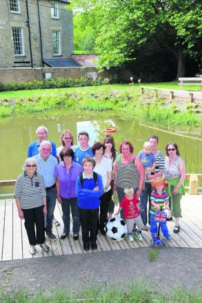 Wroughton residents at the Moat Pond