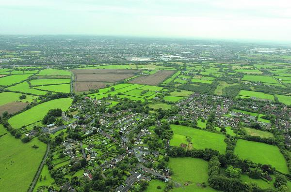 The Eastern Development Area with Wanborough in the foreground