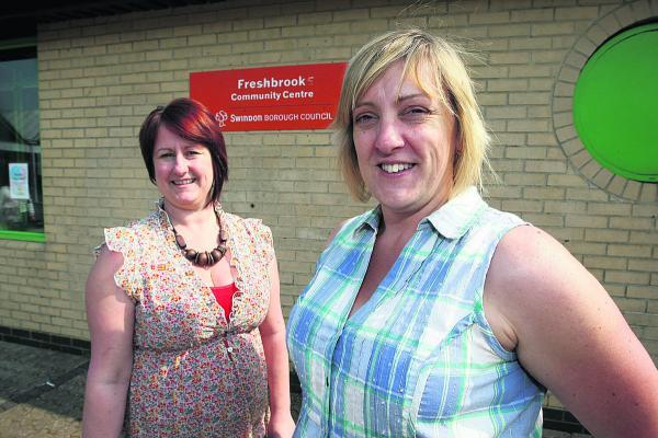 Tracy Brown, the vice-chairman of Freshbrook Community Centre, with chairman Stephanie Bird